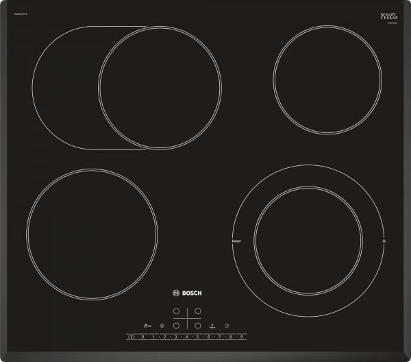 BOSCH PKN651FP1E Glaskeramik Kochstelle, Facettendesign