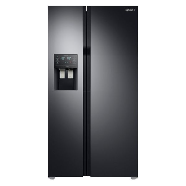 Samsung RS51K54F02C Side by Side, Glasfront, schwarz, A+