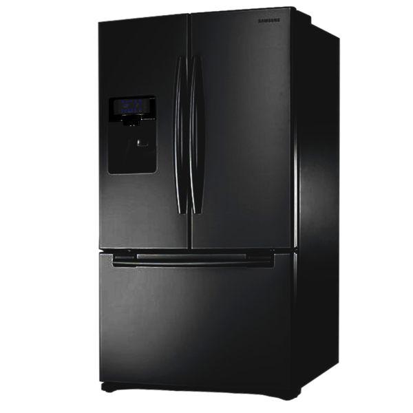 B-Ware Samsung RFG23UEBP dreitüriger Kühl-Gefrierschrank, schwarz